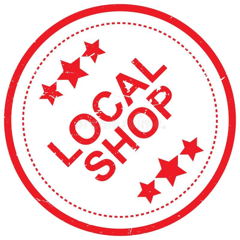 Loja local ilustração stock