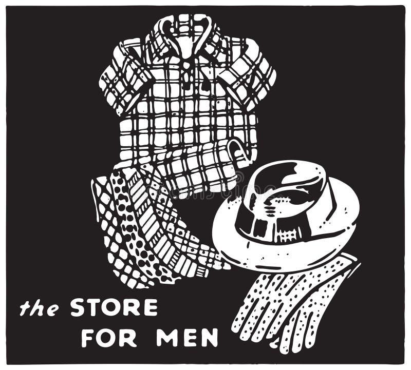 A loja para os homens 4 ilustração stock