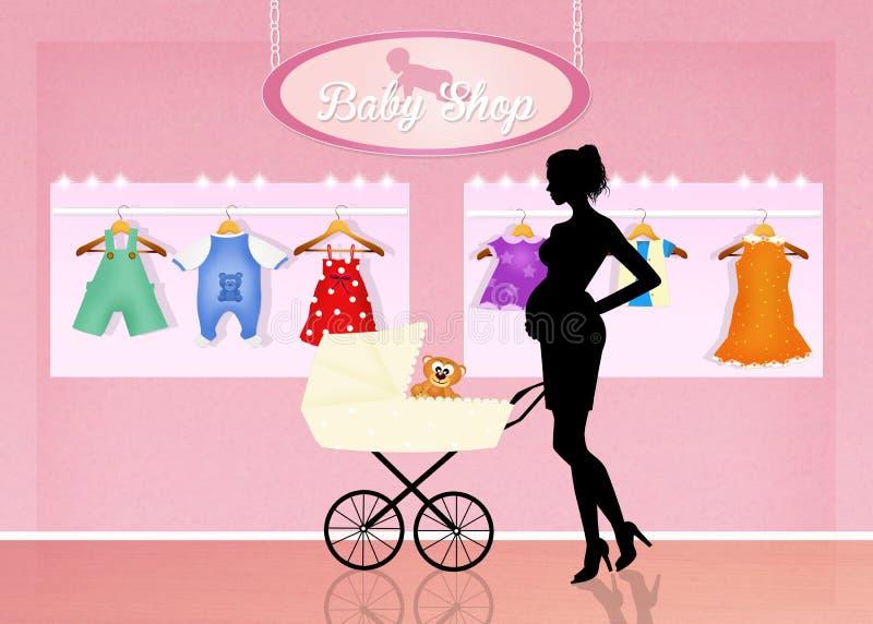 Loja para a roupa do bebê ilustração do vetor