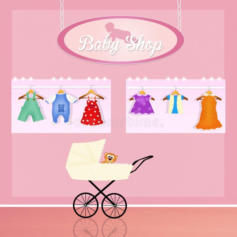 Loja para a roupa do bebê ilustração royalty free