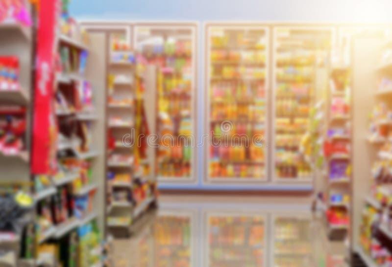 Loja retro no supermercado para o fundo imagens de stock royalty free