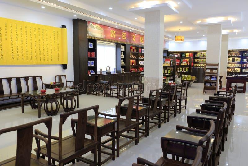 A loja taiwanesa do chá imagens de stock