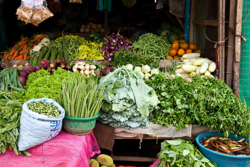 Loja vegetal em Sri Lanka fotos de stock