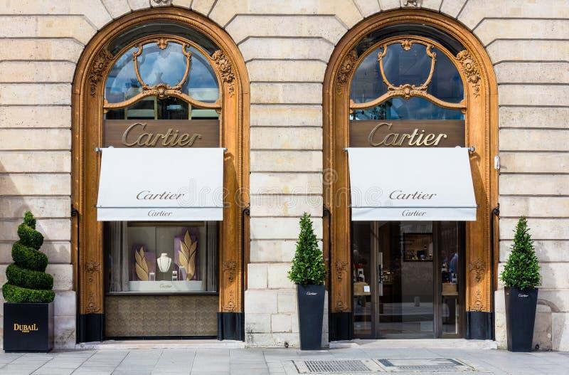 Loja Vendome no lugar de Cartier em Paris imagem de stock