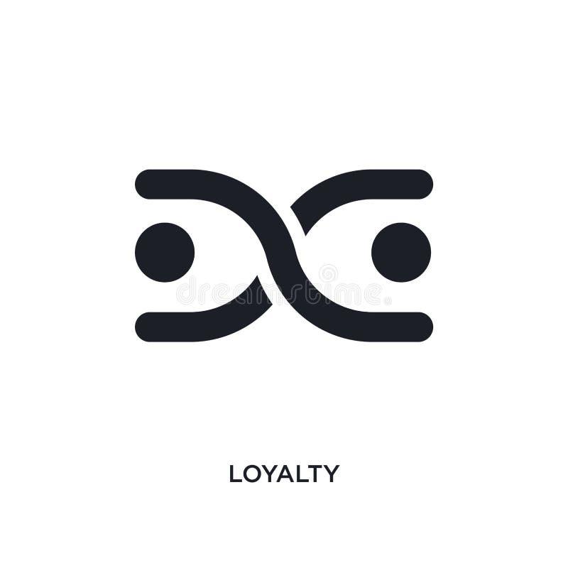 lojalitet isolerad symbol enkel beståndsdelillustration från zodiakbegreppssymboler för logotecken för lojalitet redigerbar desig stock illustrationer