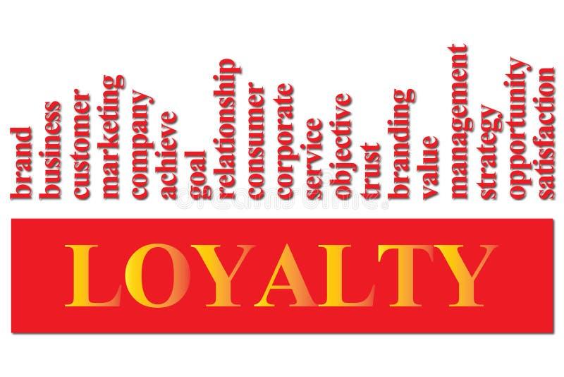 Lojalitet till ett företag eller ett märke royaltyfri illustrationer