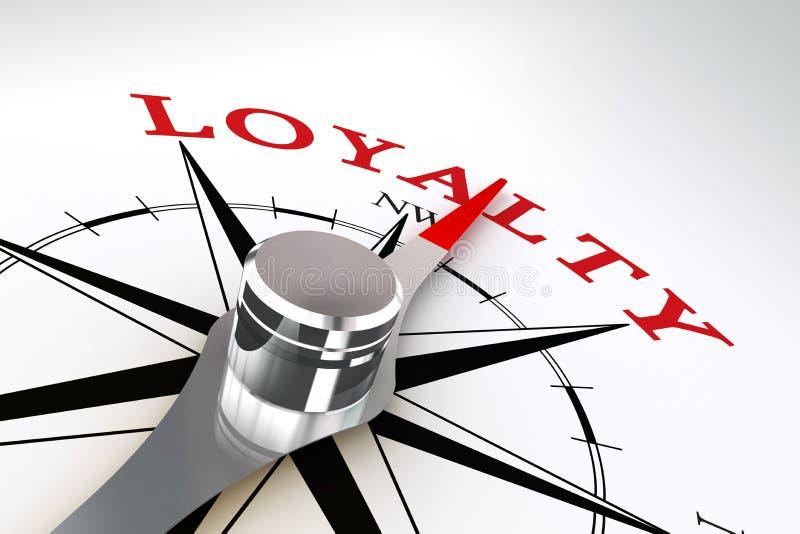 Lojalitetbegreppskompasset steg stock illustrationer