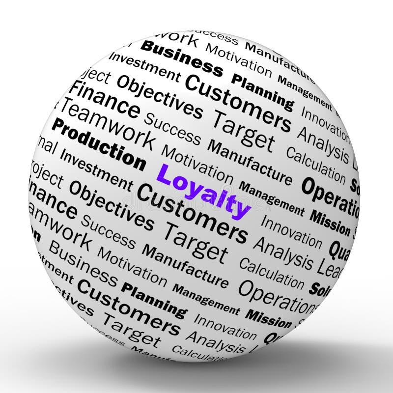 Lojalitetsfärdefinitionen visar ärlig trohet royaltyfri illustrationer