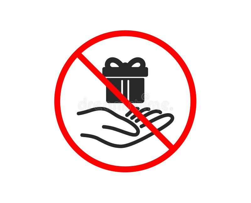 Lojalność programa ikona Prezenta pudełka znak wektor ilustracji