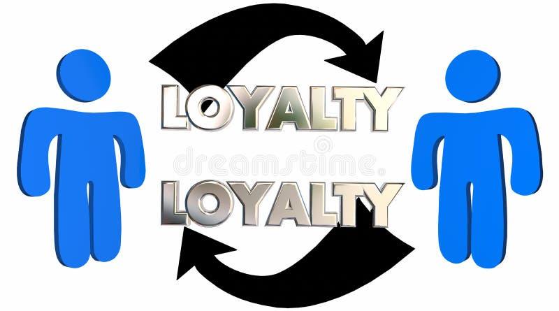Lojalność klienta pracownika związku strzała ludzie ilustracja wektor