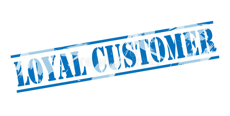 Lojalny klienta błękita znaczek ilustracji
