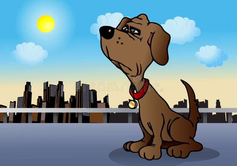 Lojalny pies ilustracja wektor