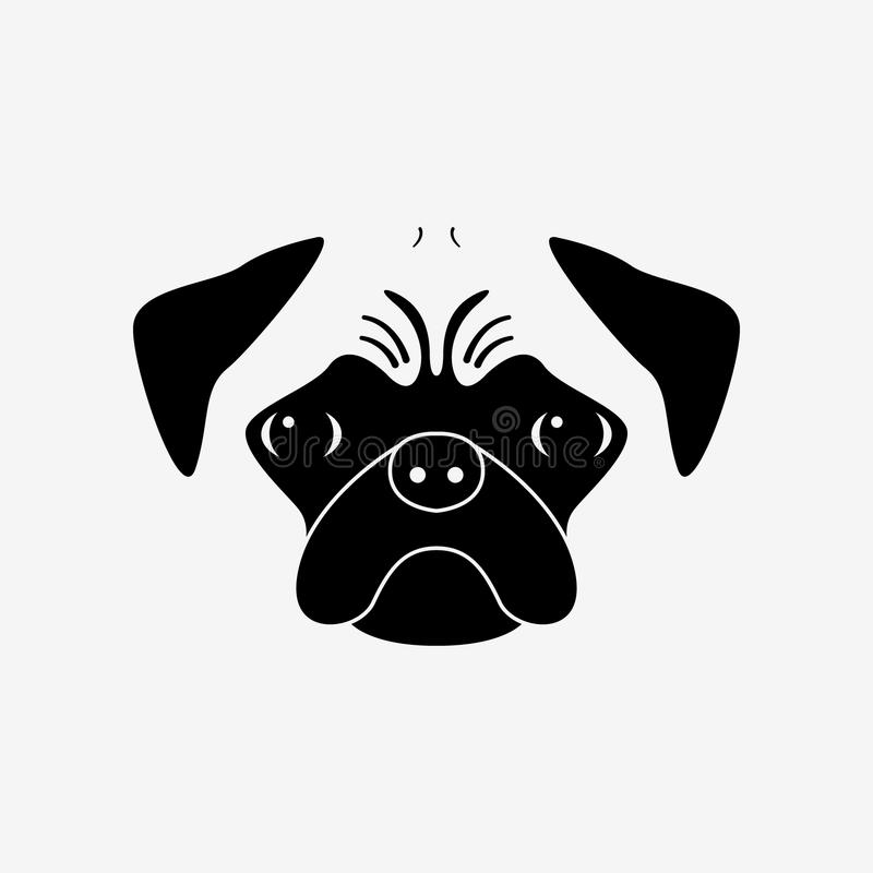 lojalny przyjaciel Purebred psi portret ilustracji