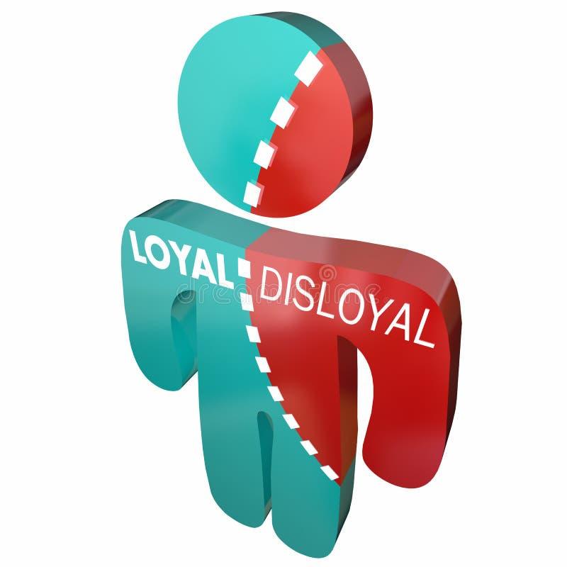 Lojalny Vs Unloyal osoby Wierny Błąkać się royalty ilustracja