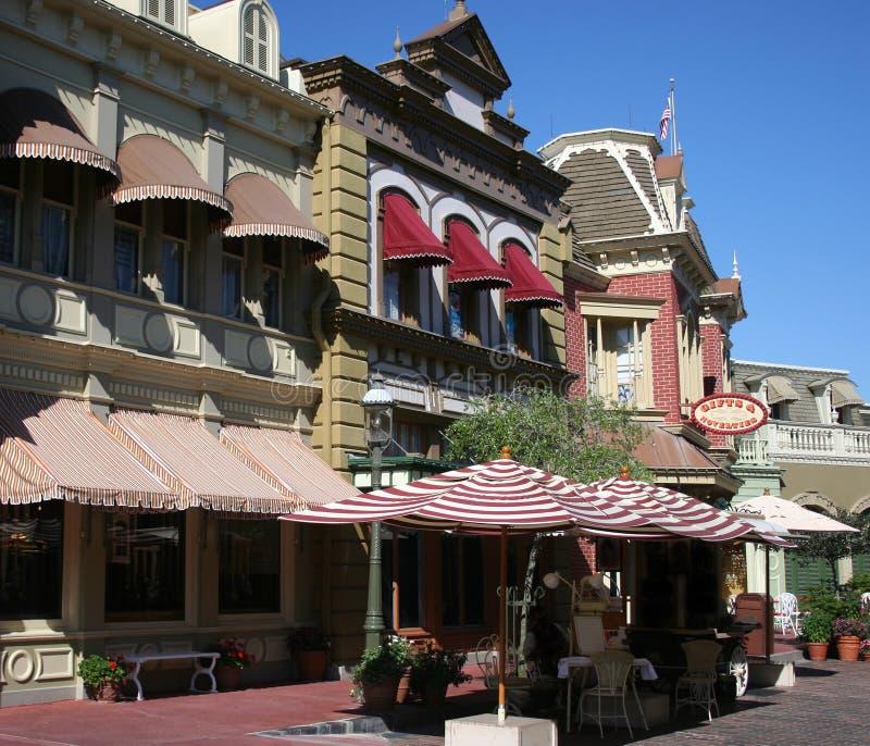 Lojas da parte dianteira da rua foto de stock royalty free