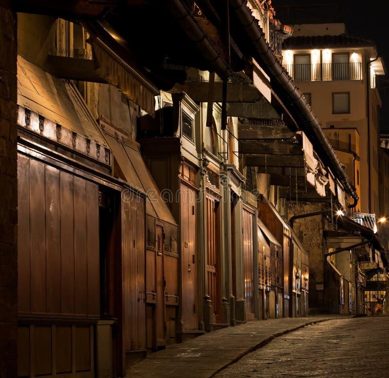 Lojas de jóia de Florença Ponte Vecchio imagem de stock