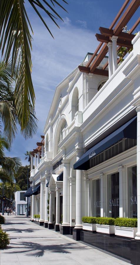 Lojas do Exclusive da movimentação do rodeio de Beverly Hills imagens de stock royalty free