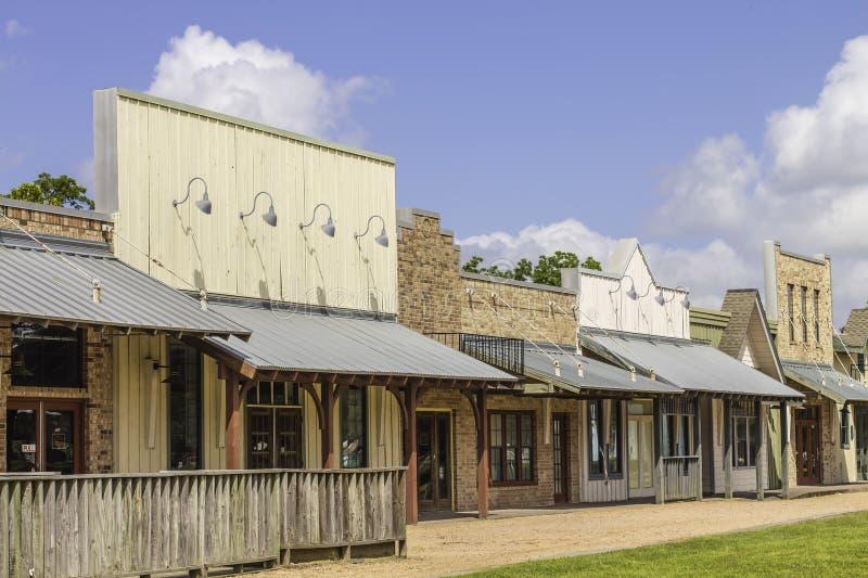 Lojas ocidentais rurais do estilo imagem de stock royalty free