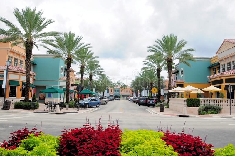 Lojas & restaurantes, FL fotografia de stock