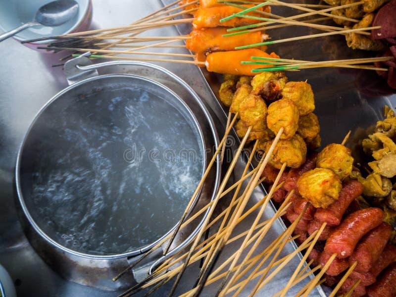 `Lok Lok` Snack foods in Penang, Malaysia stock photos