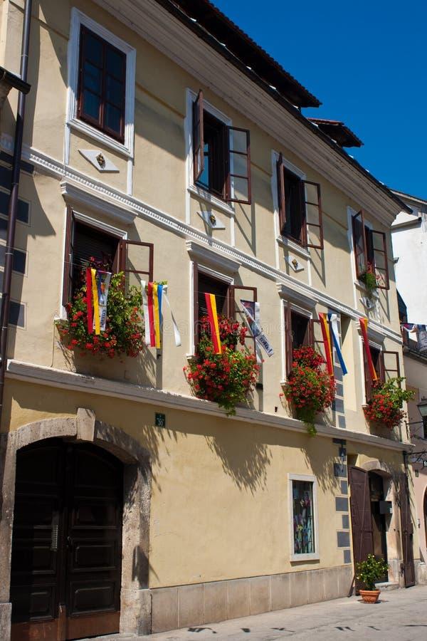 Loka Slovenia di Skofja immagini stock