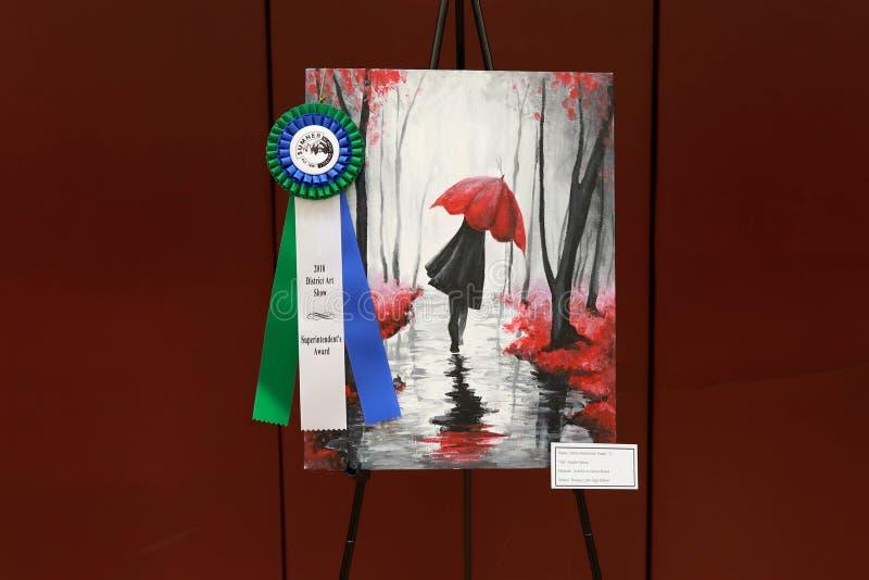 Lokaal District Art Fair Winner royalty-vrije stock foto