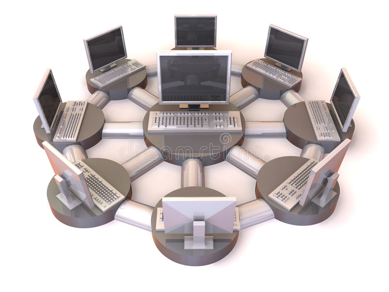 Lokaal netwerk stock illustratie