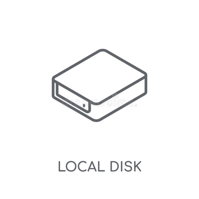 Lokaal schijf lineair pictogram Modern het embleemconcept o van de overzichts Lokaal schijf stock illustratie