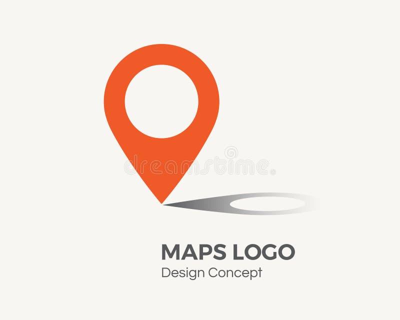 Lokaci ikona Mapa pointer royalty ilustracja