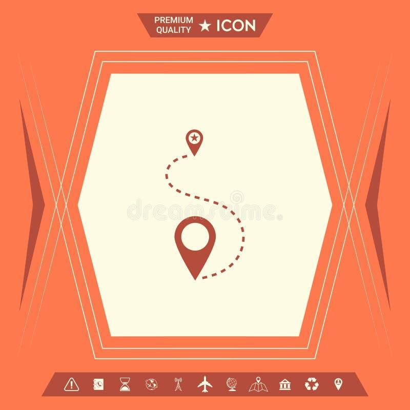 Lokaci ikony symbol royalty ilustracja