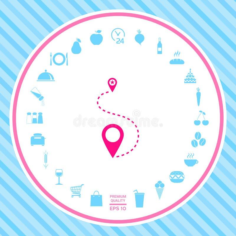 Lokaci ikony symbol ilustracji