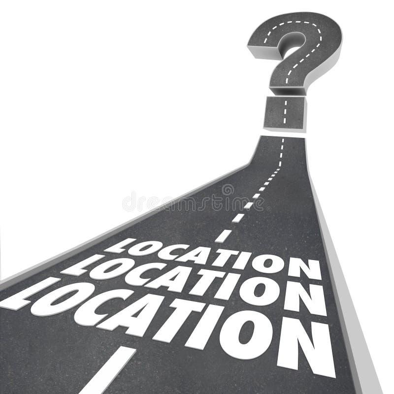 Lokaci lokaci lokacja Formułuje Drogowego miejsce przeznaczenia ilustracja wektor