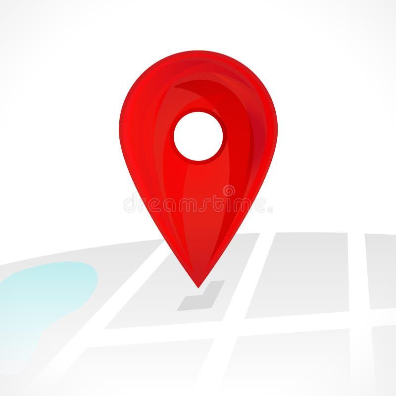 Lokaci mapy ikona, gps pointeru ocena ilustracja wektor