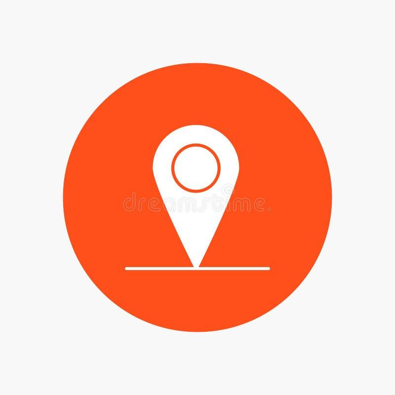 Lokacja, mapa, interfejs royalty ilustracja