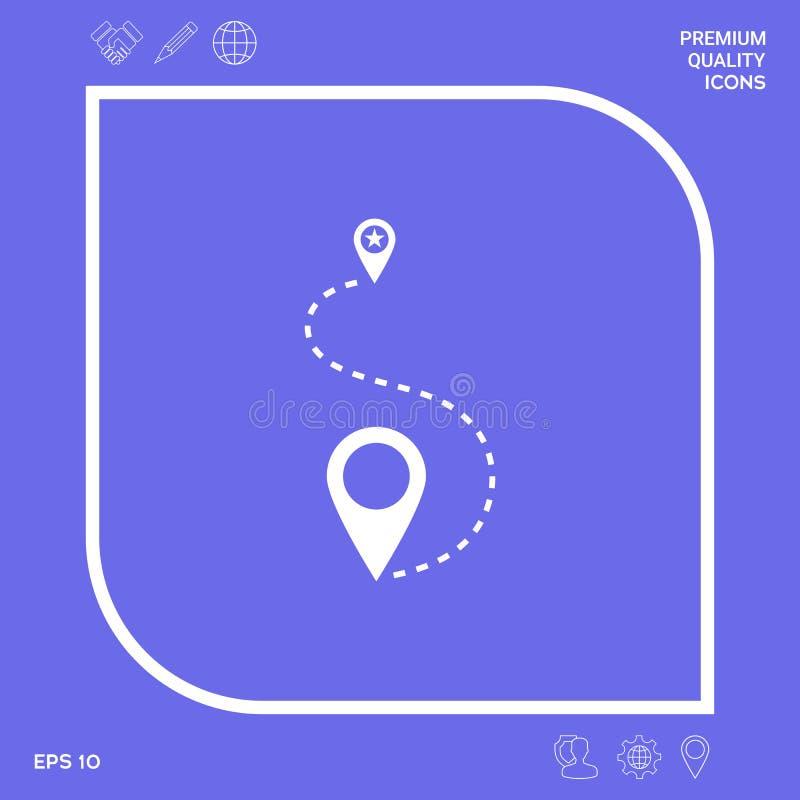 Lokacja symbolu ikona Graficzni elementy dla twój projekta ilustracji