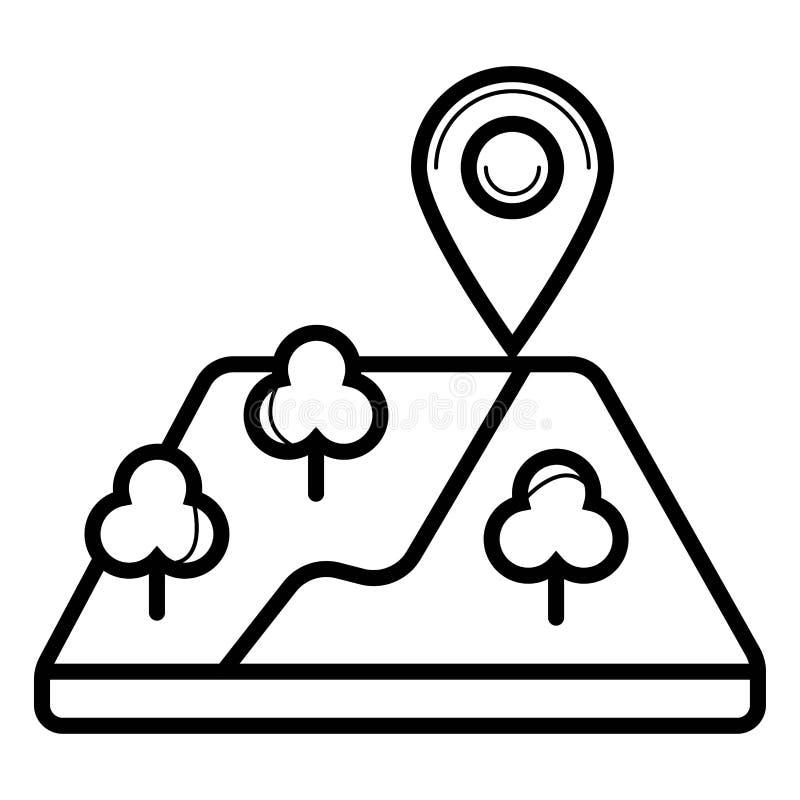 Lokacji ikony wektor, mapy bry?a royalty ilustracja