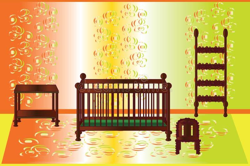 Lokal för behandla som ett barn royaltyfri illustrationer
