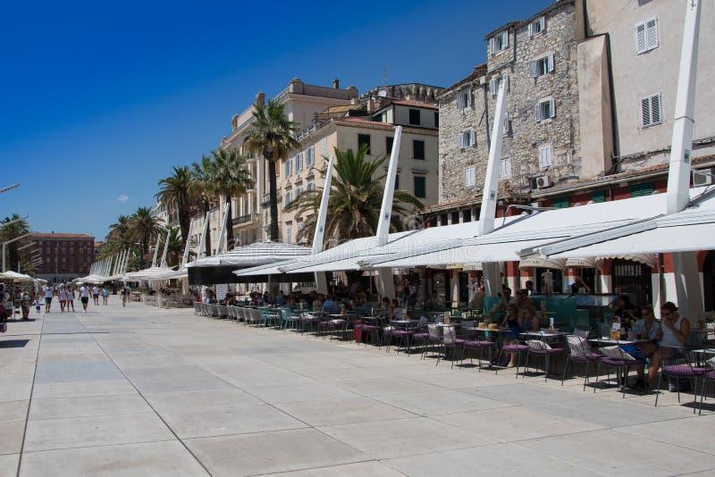 lokal för croatia dalmatia värld för unesco för town för berömd arv gammal delad royaltyfri bild