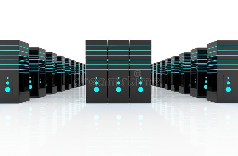 Lokal för nätverksserver arkivbild