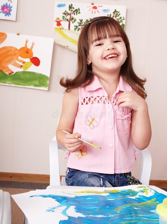 lokal för spelrum för barnmålningsbild arkivbild