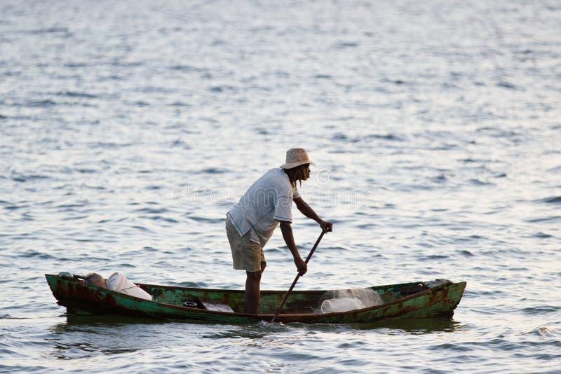 Lokal fiskare, Belize royaltyfri fotografi
