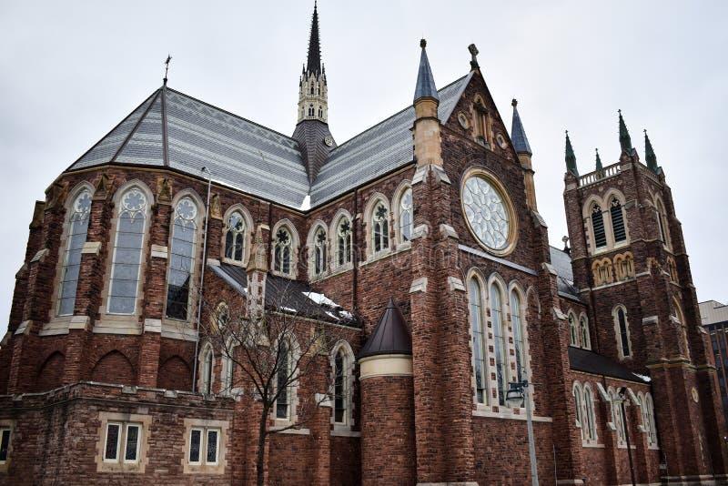 Lokal katolsk kyrka i London, Ontario, Kanada royaltyfri bild