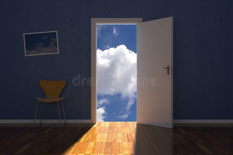 Lokal på skyen vektor illustrationer