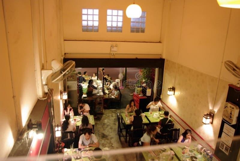 Lokal restaurang i Asien arkivbild