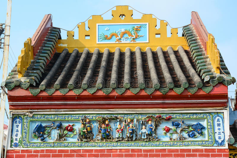 Lokal tempel i den Mekong deltan royaltyfria bilder