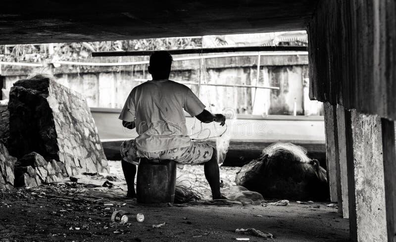 Lokal thai fiskare fotografering för bildbyråer
