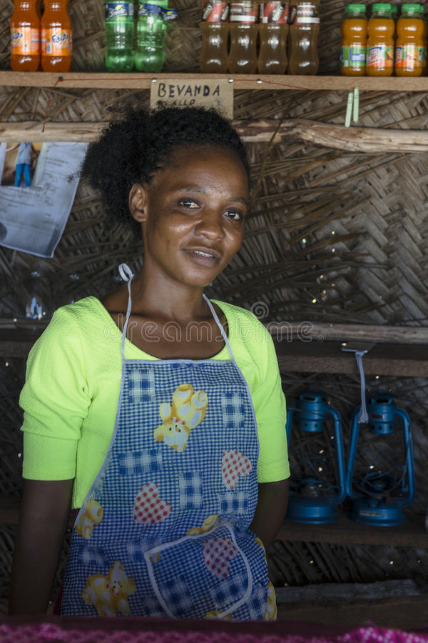 Local woman on Zanzibar stock image