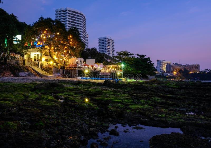 Lokala platser från Thailand stränder - Pattaya royaltyfri bild