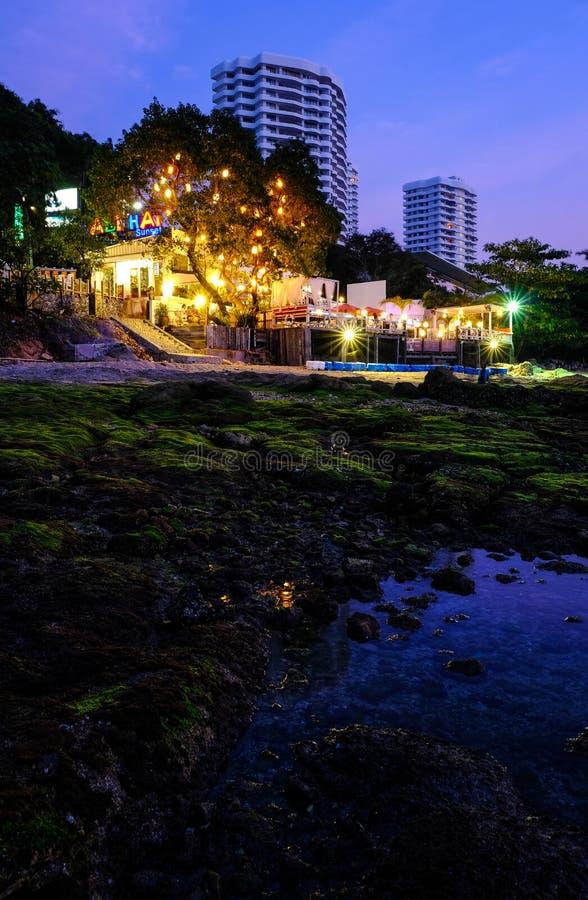 Lokala platser från Thailand stränder - Pattaya royaltyfri fotografi