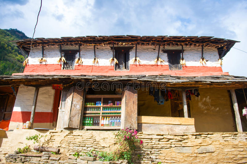 Lokala specerihandlare för nepalesisk stil för handelsresande royaltyfri foto